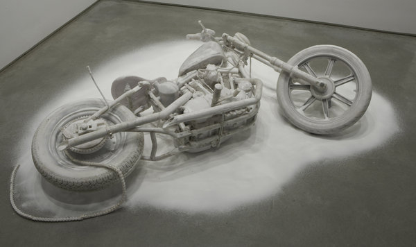 resin and salt cast of an Ironhead by Banks...