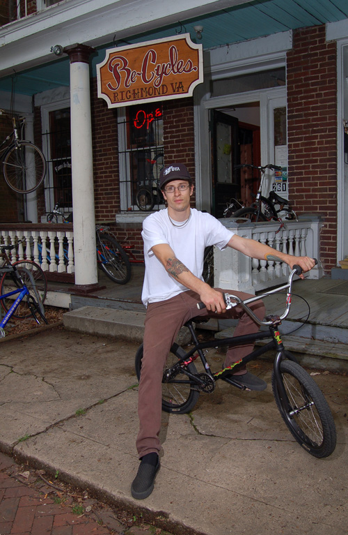 Evan Venditti, owner of a new Howler, and Re Cycles in Richmond Va.