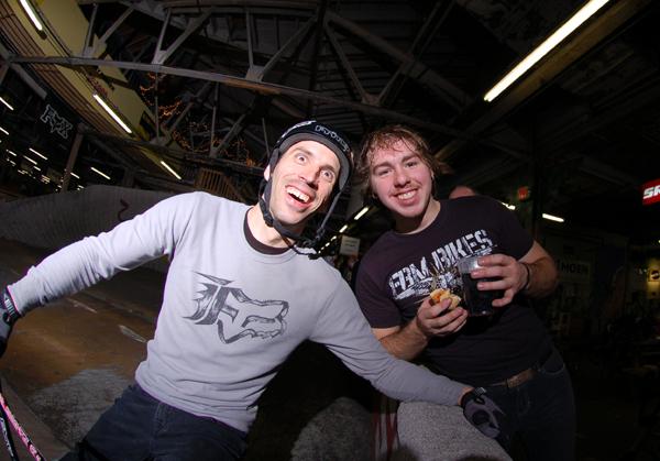 BF and Joel Barnett... Stoked.