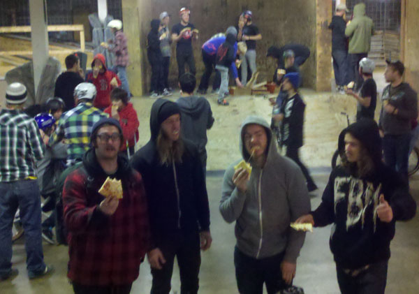 Pizza Party at Ramp riders..