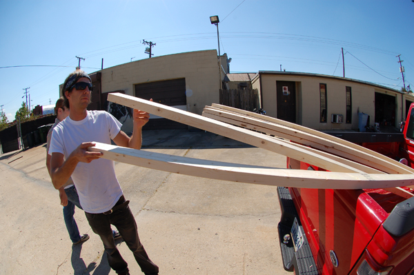The Intibbidator, unloading wood to finish the ramp. Its sweet!
