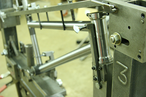 This frame is being built for the legendary Scott Yoquelet who is making his racing comeback at this year's NBL Grands, super duper kick ass.