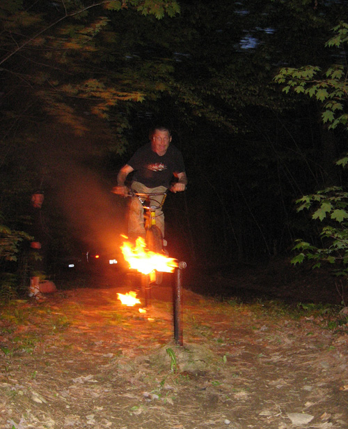 Kelly Baker Fire rail at the trails circa albert street 2008