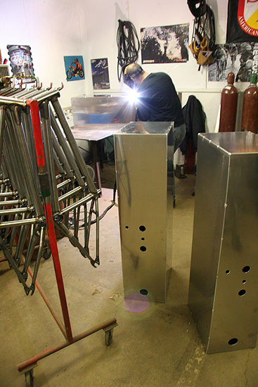 The welder dudes have been firing out frames and VegPower tanks on the regular all while wearing up to 10 layers of clothing.