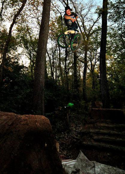 Garret Ginch at Muzzys trails!