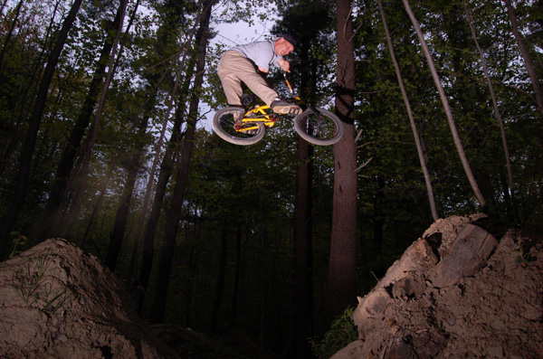Kelly Baker, early in the season, enjoying some laps at the Trails....Classic style!