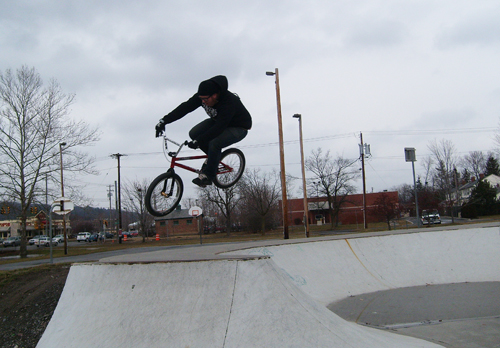 Smith to hard 180 out? no just an old and cold dude at the public park...the Only good thing about this pic is how much fun I had.