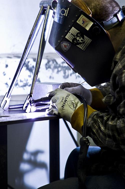 Big Dave 4130, welding photo by Aaron Buckley