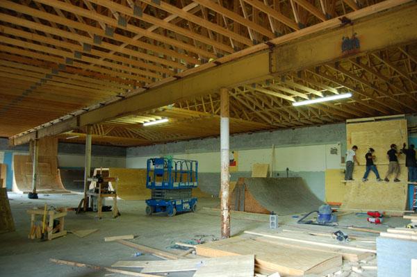 East Shore skatepark in progress....