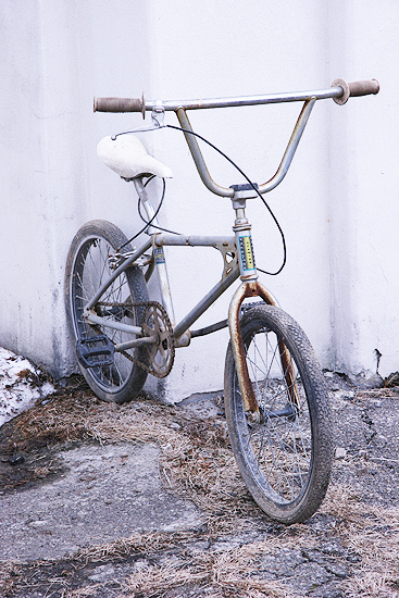 New shop bike Dave brought back from the farm in IL. 80s Schwinn Predator.