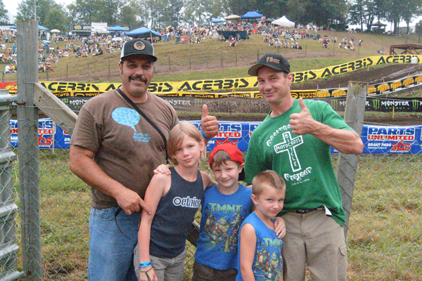 Big Job and the Baker family at Unadilla