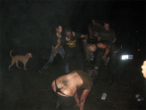 Mud wrestling G-string party?