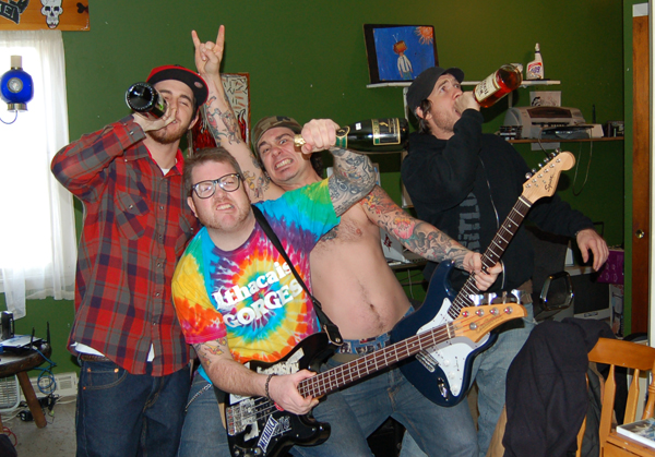 Leland, Tag, Gene and I with our new Rock band.