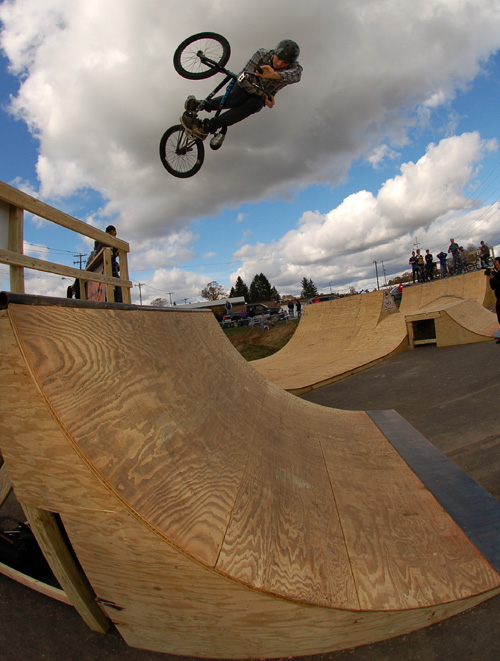 Joel Barnett in Newark Valley at the Nick Willson memorial ramp jam