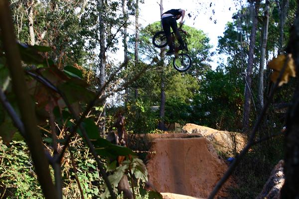 Joey J. from FLA. rode trails last week... HAPPY HAPPY