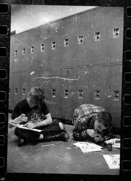 Banks and Guav at the alternative community school in Ithaca, the 80;s...