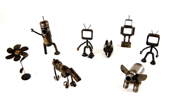 Joby Springsteens bicycle scrap parts art!