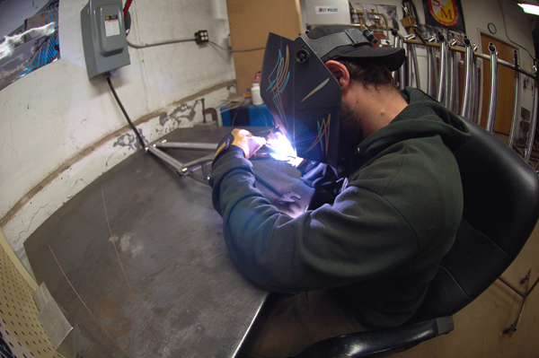 Johnny Corts, welding like a champion!