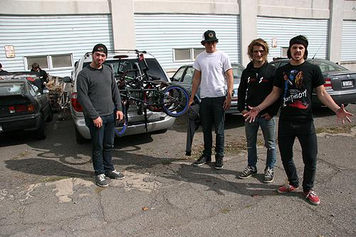 The dudes: Joel, Kie, Mickey and Garrett.