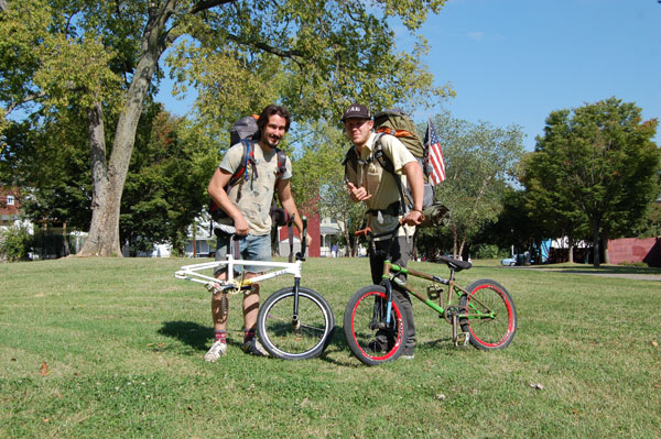 Jeff Smee and Bryce tool, en route to FlA. from Pittsburgh via BMX