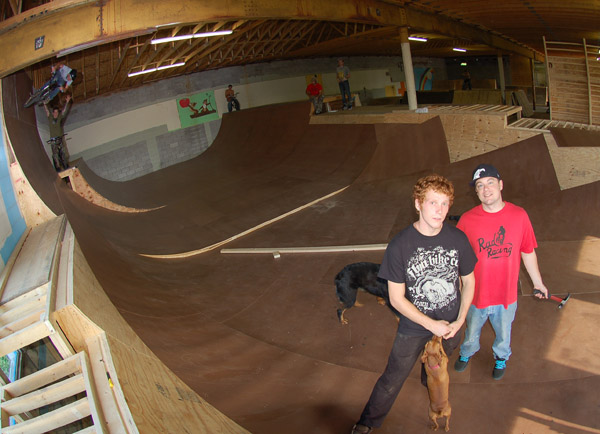Tyler and Ben of East Shore... Nate and Leland in the background...