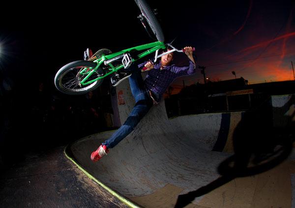 Bob at the old bike lot bowl..