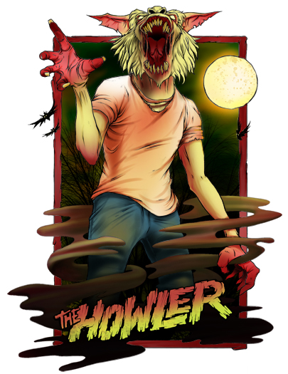 This is the new Howler down tube sticker....scary wolfman!