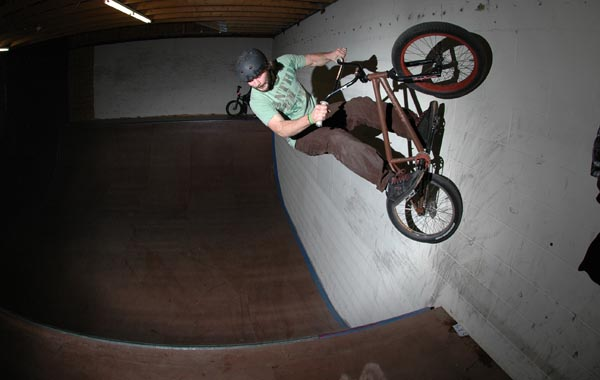 John Corts, ride up the wall, carve back in....