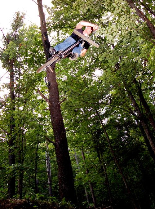 Cruzer, no accounting for adult behavior. riding kids bikes again