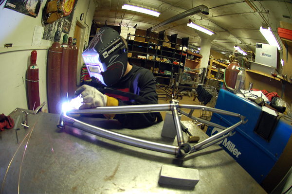 Big Dave, master frame builder!