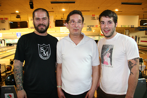 Dave, Moleman and Mikey, bowling buddies for life.