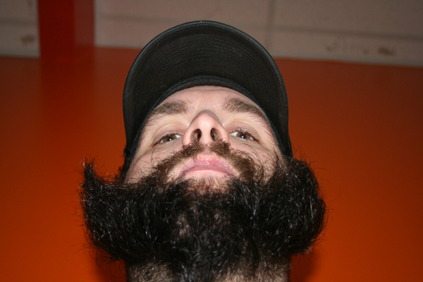 Kerry Sayre also seems stoked on the beard action. Fire Beards and mayhem?
