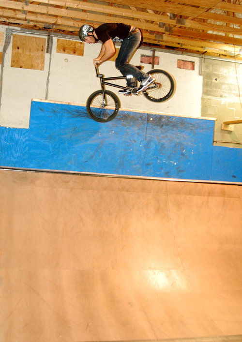 Mr. Nice guy of BMX, Joel Barnett, no coal for him this year.