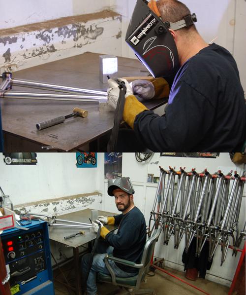 Big Dave,bike building guru!