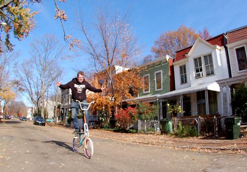 Bike surfing of bike skating?