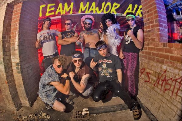 Team Major Air, starring kooks, and Joel, in Purple pants.