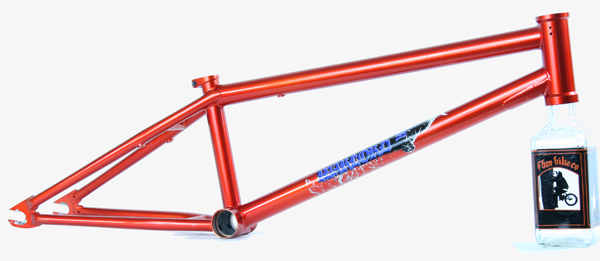 We pulled this off of one or our Warlord complete samples, it will be available as an aftermarket frame with an MSRP of $260. Roasted post-weld heat-treated and removable brake mounts.