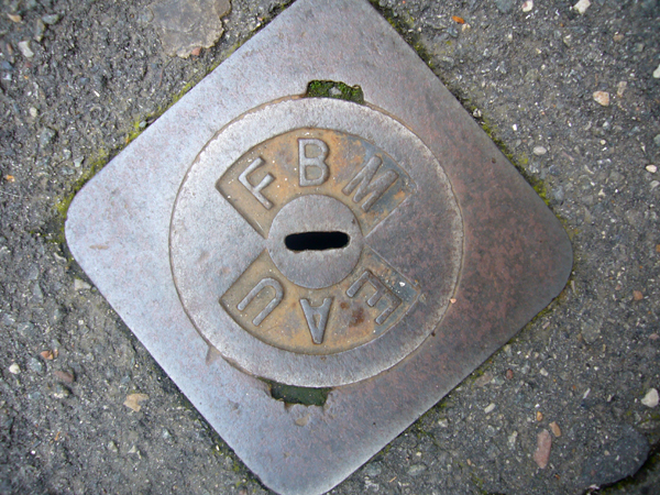 unrelated manhole....