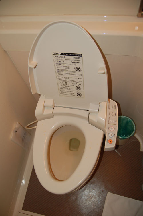 this is what a heated toilet seat looks like!