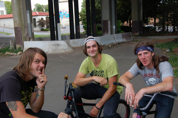 Kenny and Tom, with Zak Rogers.