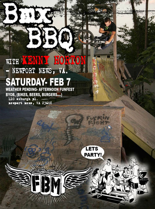Come celebrate Kenny getting hooked up with FBM this Saturday! PMA required!