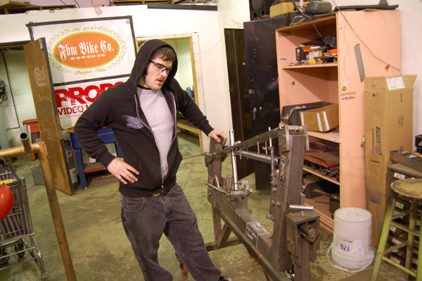 Mikey Corts is trying to learn Jedi welding!