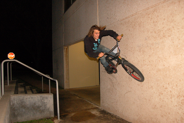 Mickey Marshal, stair gap to wallride. Liquor James pic.