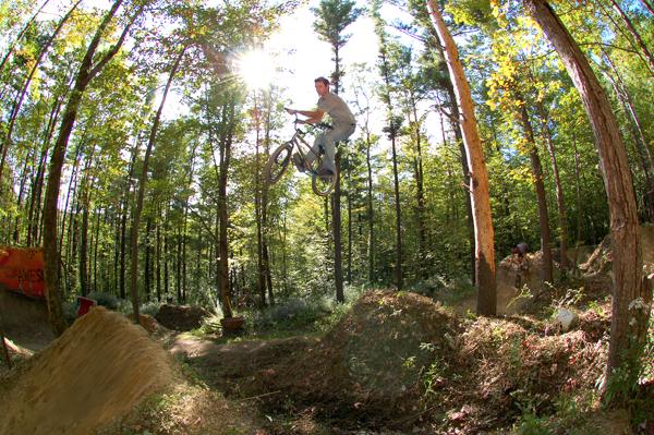 Derrick Girard, borrowed bike..