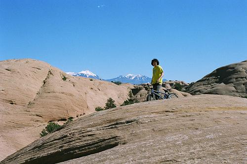 Wild Bill Ashby enjoying the view in Moab, Utah.