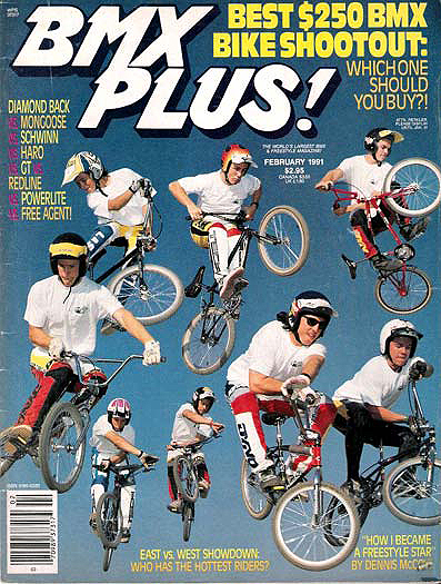 Since I don't usually put pictures of myself up here, I figured it wouldn't hurt to pop this one up.  Pretty proud to be on one of the worst BMX Plus! covers ever, and that's saying something, as there have been some pretty terrible ones...top right.