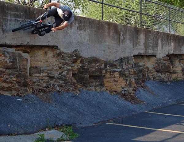 Joel Barnett over the ridge.