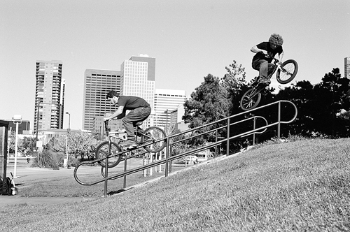 This doubles photo ran in Ride UK a ways back, Mike Corts and Ryan Metro.