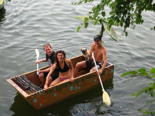 Homemade boats are all the rage these days.