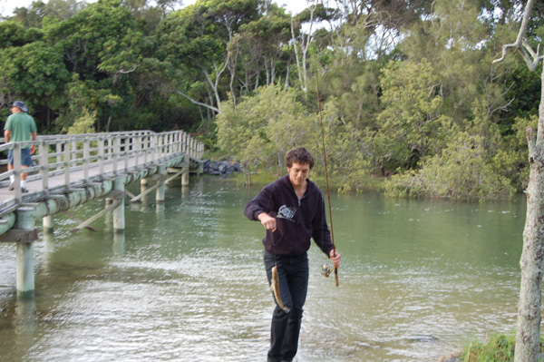 Peter koh catching dinner